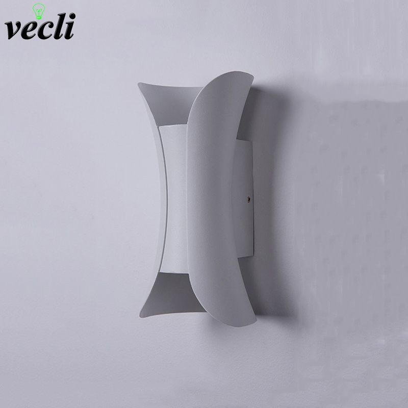 New aluminum led wall light bedroom bedside wall lamps living room corridor indoor Wall decoration light AC85 265V in LED Indoor Wall Lamps from Lights Lighting