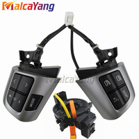 NEW High quality For TOYOTA COROLLA 2007 2013 84250 02230 8425002230 Steering Wheel Audio Control Button Silver & Black Colour