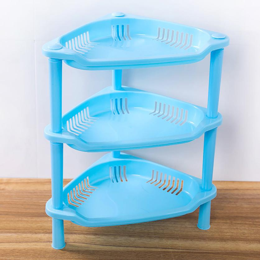 3 Tier Plastic Corner Organizer Bathroom Caddy Shelf Kitchen Storage ...