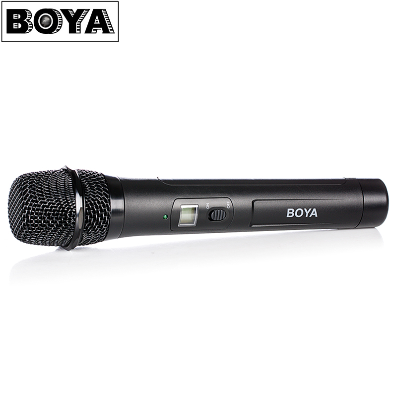BOYA BY WHM8 Professional Omnidirectional 48 UHF Microphone Dual Channel Wireless Handheld Mic System LCD Display for Singing