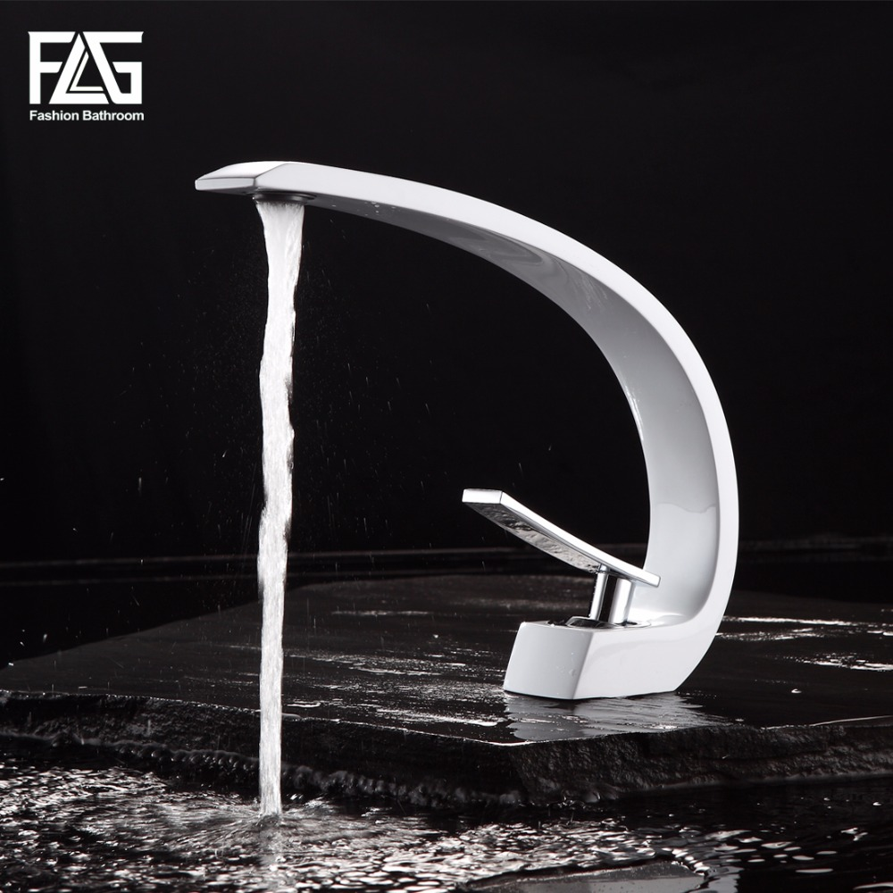 FLG New Design High Quality Basin Mixer Tap Bathroom Faucet, White and Chrome Basin Sink Faucet grifos de lavabo pastoralism and agriculture pennar basin india