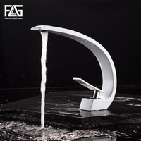 New Design High Quality Basin Mixer Tap Bathroom Faucet White And Chrome Basin Sink Faucet Grifos