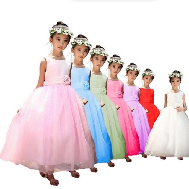 2016 NUEVO Vestido de La Muchacha para el verano Princesa Del Vestido de los Bebés de Navidad Del Traje de Blancanieves Rapunzel Vestidos 3-14 Años envío gratis