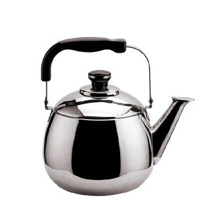 Bollitore per acqua da te in acciaio inossidabile nero 1L per uso domestico con maniglia antiscottatura per ristorante Teiera Alinory