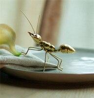 اليدوية خمر النحاس الذهب الحلي النمل سوبر لطيف ل مكتب المنزل الفن كرافت هدايا مصغرة الجنية حديقة المنزل الديكور