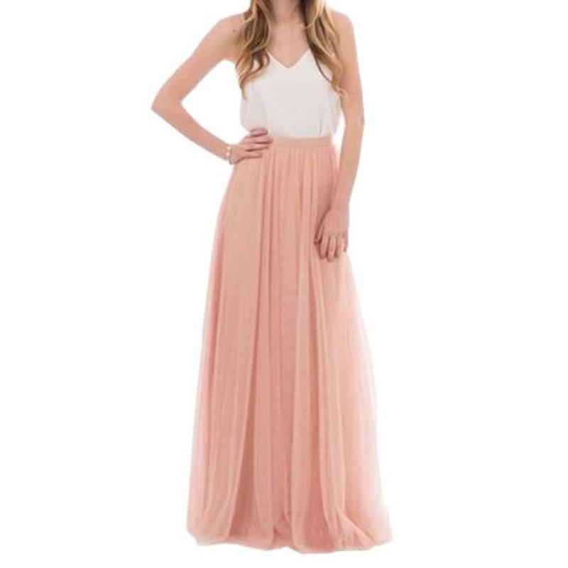 U-SWEAR 3 Layers Lace Maxi Long Skirt Womens Summer 2018 Tulle Skirt  Ball Skirts Plus Size Women's Wedding Skirt Tulle Long