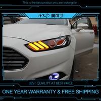 АКД Тюнинг автомобилей Фара для Ford Mondeo 2013 Mustang фары светодиодный DRL ходовые огни Биксеноновая луча Противотуманные фары глаза ангела