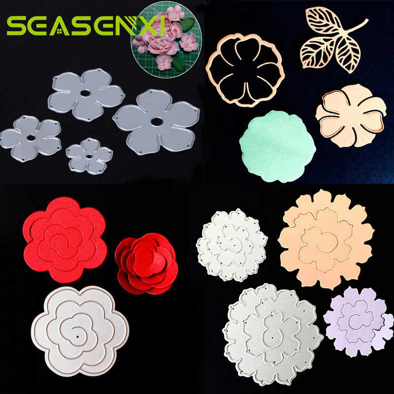 Rose Flower Metal Cutting Dies Stencils For Scrapbooking Photo Album Decoration Embossing Paper Card Craft Template Folder Suit
