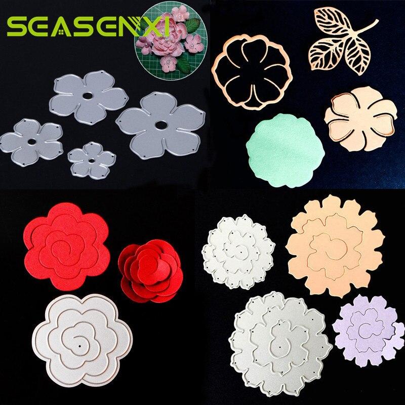 Rose Flower Metal Cutting Dies Stencils For Scrapbooking Photo Album Decoration Embossing Paper Card Craft Template Folder Suit