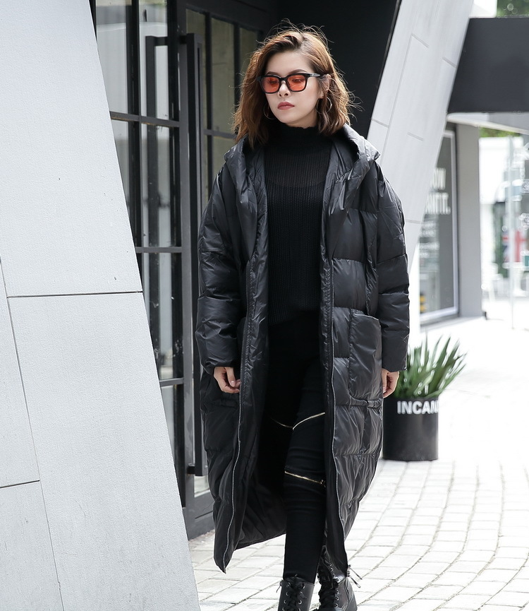 [IASK] 2017 new autumn winter hooded long sleeve solid color black cotton-padded loose big size jacke women fashion tide JD12101 цена и фото
