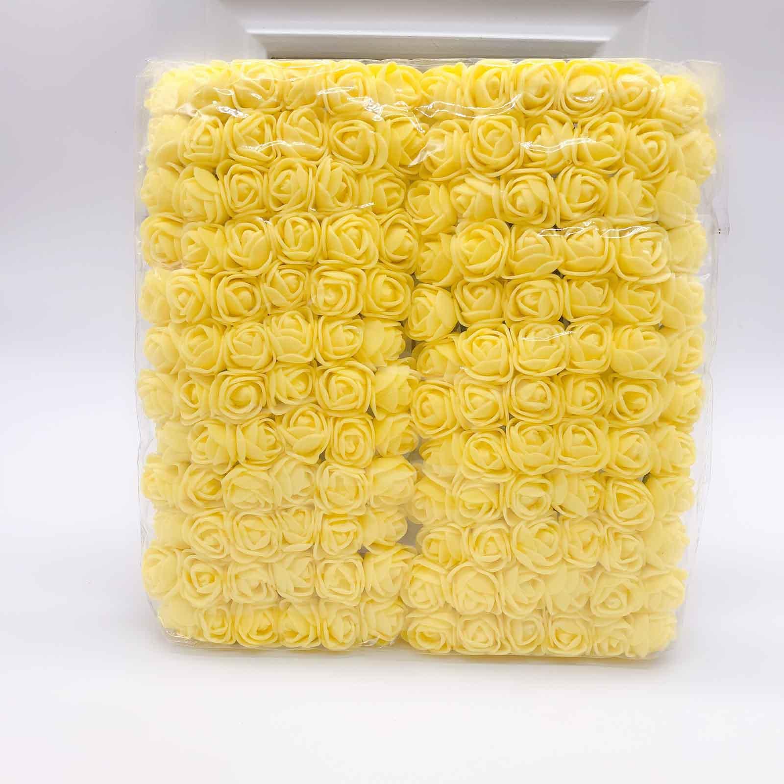 144 шт 2 см мини-розы из пенопласта для дома, свадьбы, искусственные цветы, декорация для скрапбукинга, сделай сам, венок, Подарочная коробка, дешевый искусственный цветок, букет - Цвет: 8