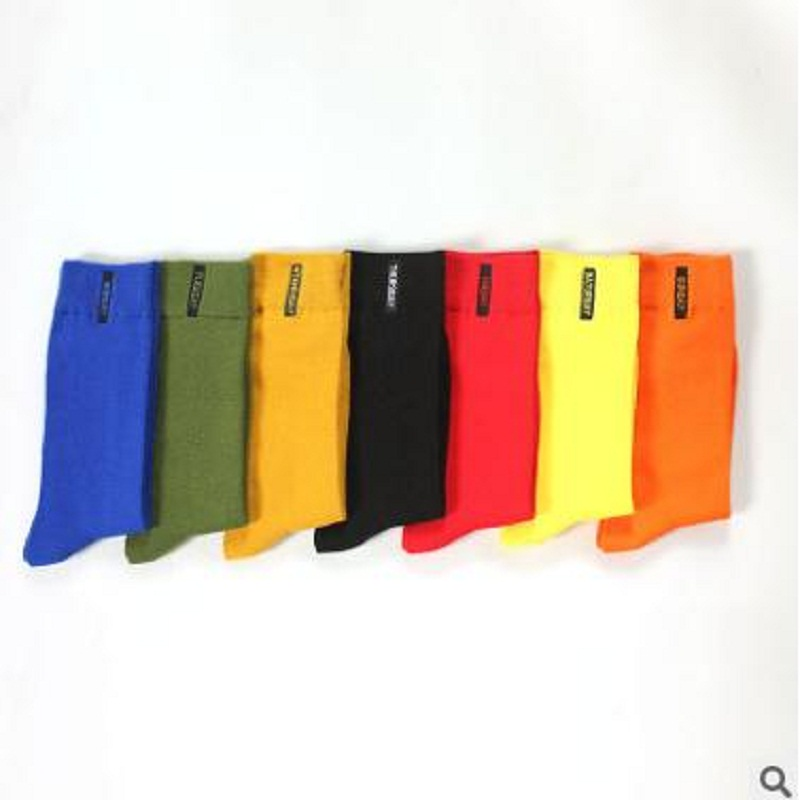 Autumn and winter new mens socks weektime seven-color fashion gentleman socks