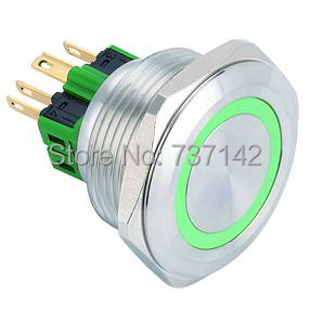 цена на ELEWIND 30mm Ring illuminated anti vandal push button switch(PM301F-11E/G/12V/S)