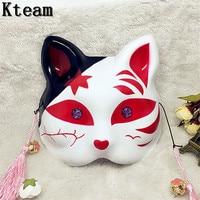 Women Girls Fox Cat Mask Full Face Anime Cosplay Fox Masks Masquerade Props Halloween Carnival Catwomen Dress Party Supplies