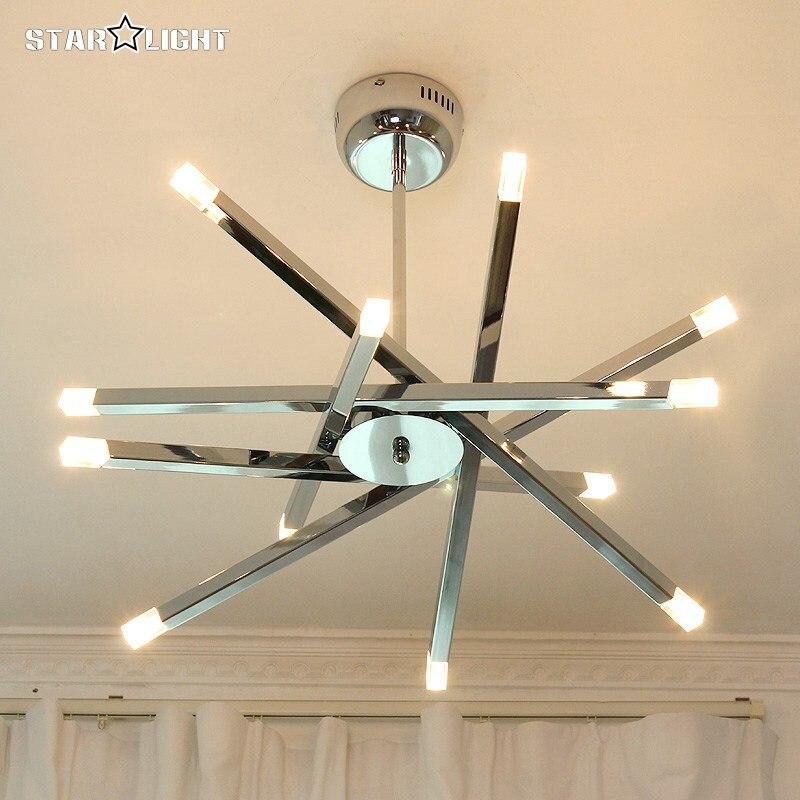 modern led ceiling light modern chrome home fixtures. Black Bedroom Furniture Sets. Home Design Ideas