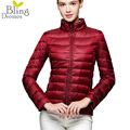 Autumn Winter 90% White Duck Down Jacket Coat Women Hot Sale Plus Size Stand Collar Warm Thin Short Parka Outwear Coats Lady