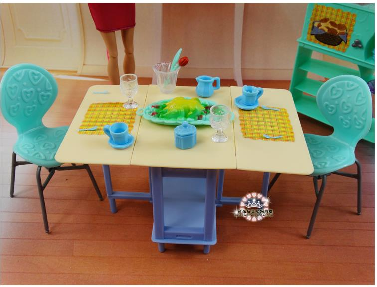 Za barbie Kelly Ken Doll Zelena blagovaonica Showcase Set / Dollhouse - Lutke i pribor - Foto 4