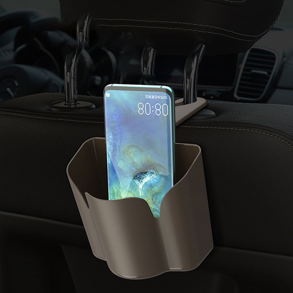 Car Back Seat Hook Trash Rubbish Garbage Can Mobile Phone Holder Storage Box in Stowing Tidying from Automobiles Motorcycles