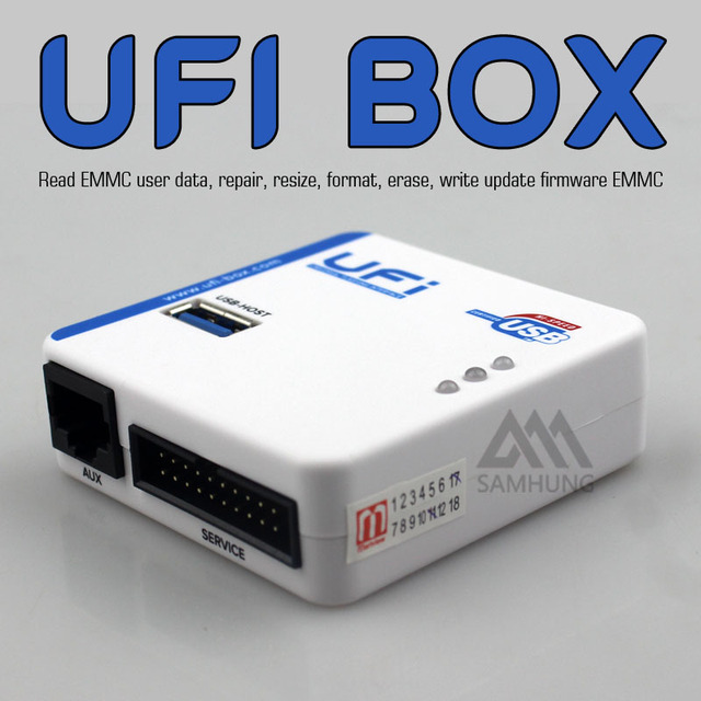 US $345 0 |2017new UFi Box powerful EMMC Service Tool Read EMMC user data  repair resize format, erase write update firmware EMMC-in Mobile Phone