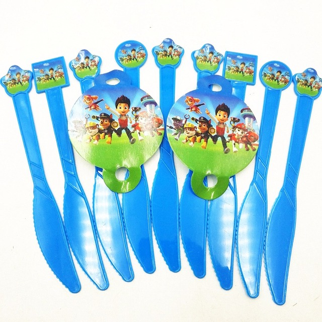 10pcs Patrol Puppy Dog Party Supplies Disposable Plastic Knifes Baby Birthday Holiday Party Dinnerware Decoration Kids  sc 1 st  AliExpress.com & 10pcs Patrol Puppy Dog Party Supplies Disposable Plastic Knifes Baby ...