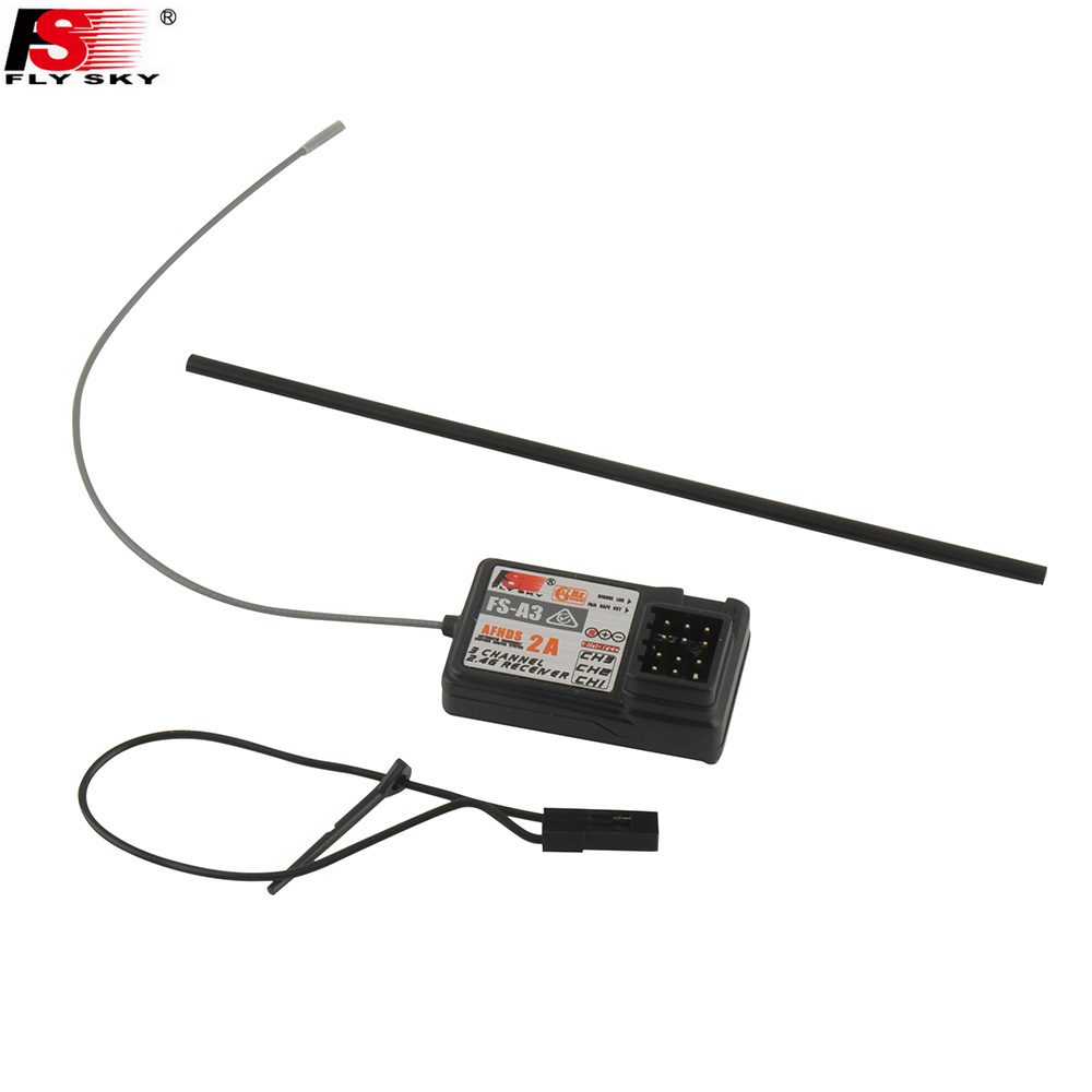 Image 5 - 1pcs Original Flysky Transmitter FS GT2E AFHDS 2A 2.4g 2CH Radio System for RC Car Boat with FS A3 Receiver(No Box)-in Parts & Accessories from Toys & Hobbies
