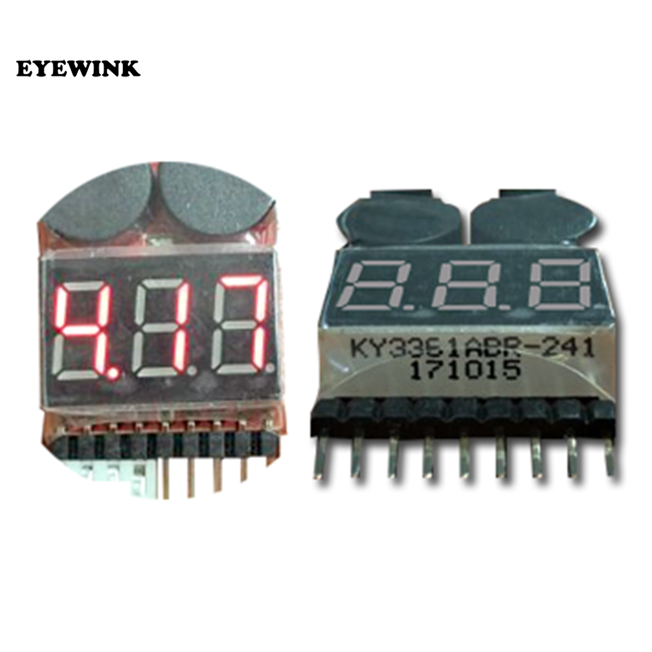 50PCS 2 IN1 Tester Low Voltage Buzzer Alarm 1 8S Lipo Li on Fe RC Helicopter