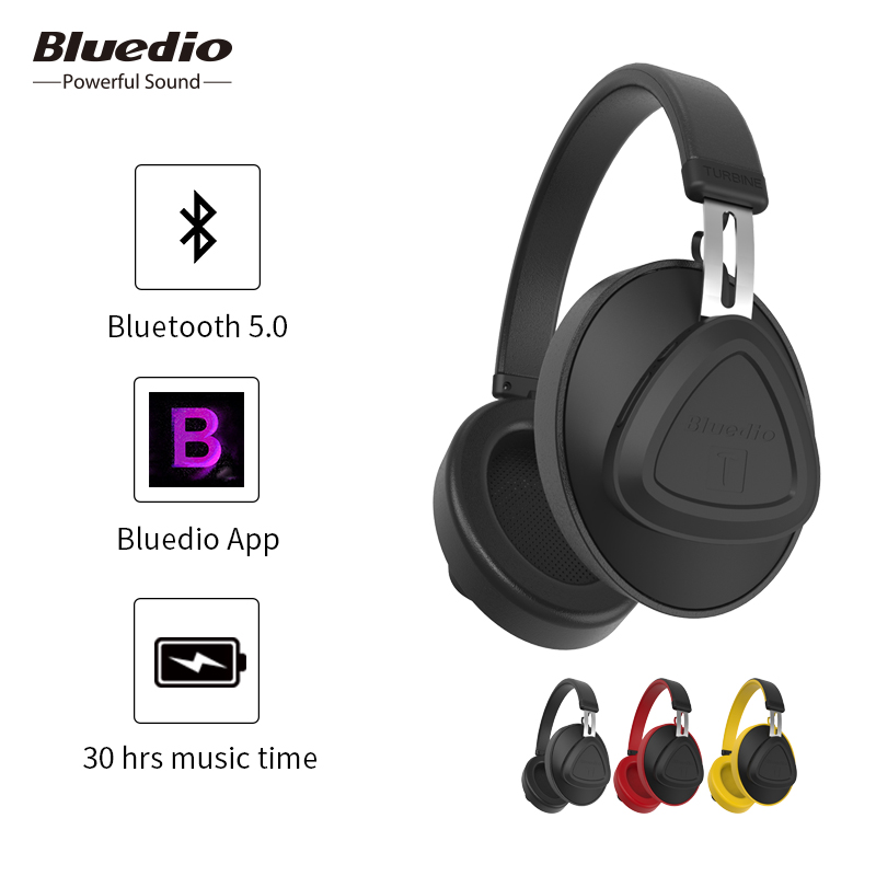 Bluedio TM bluetooth headphone wireless monitor studio over ear headset with microphone support voice control for mobile phone-in Bluetooth Earphones & Headphones from Consumer Electronics on AliExpress