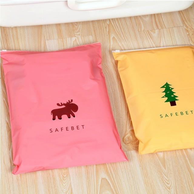 Waterproof underwear shoes storage bags – vacuum bags for clothes – zipper organizer bag