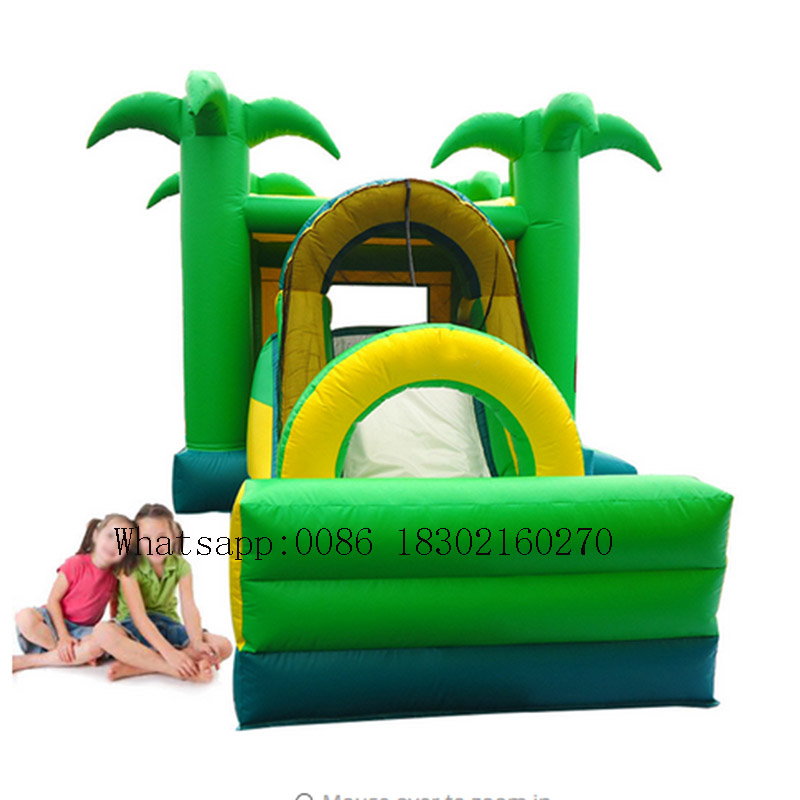 PVC inflatable bounce castle with slide kids inflatable bouncer inflatable slide include blowerPVC inflatable bounce castle with slide kids inflatable bouncer inflatable slide include blower