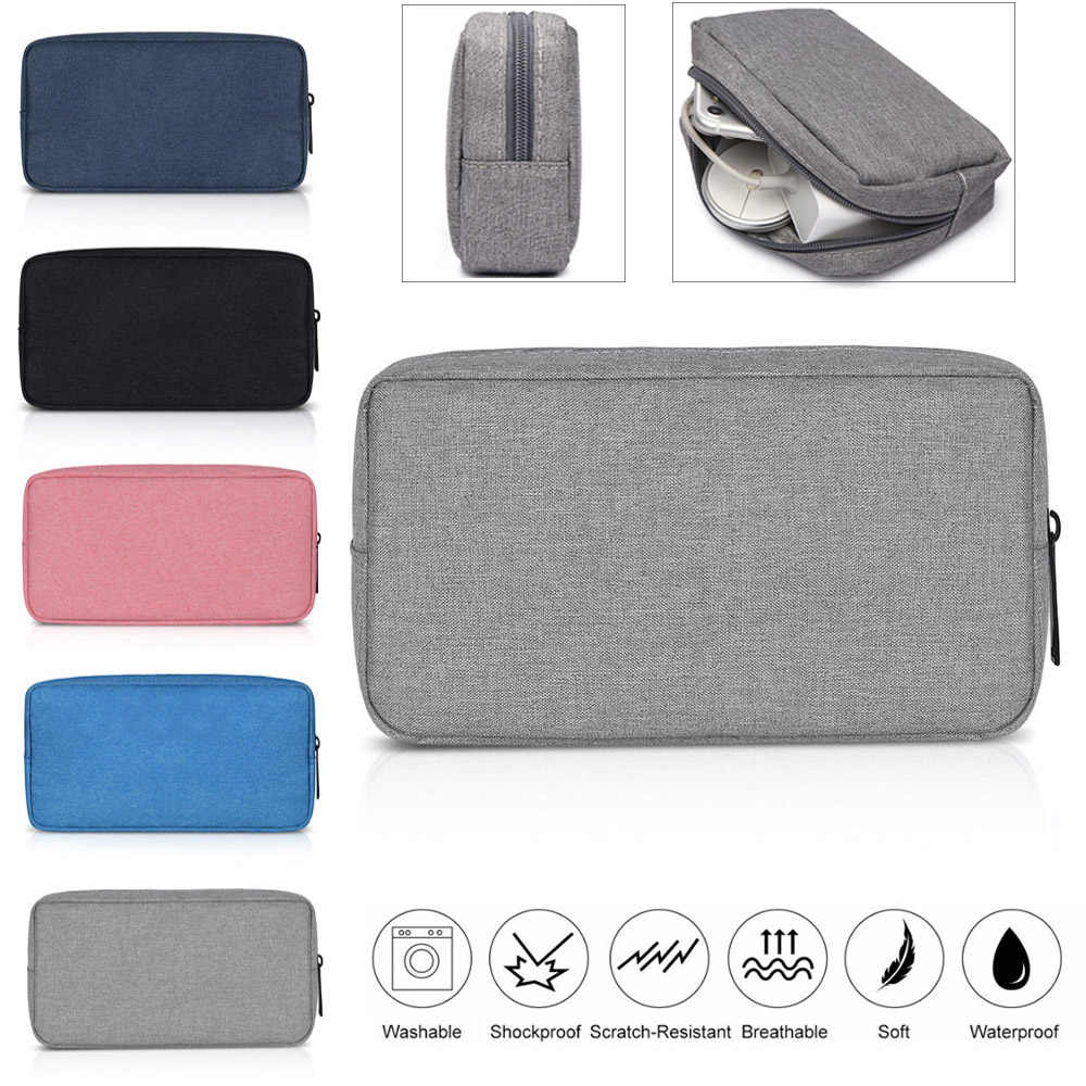Fashion Digital Accessories Storage Bag Portable USB Cable Earphone Organizer Makeup Cover Travel Storage Gadget Devices Pouch