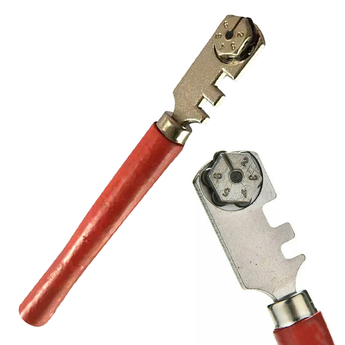 6 Wheels Steel Tile Cutter Scriber Multifunctional Glass Cutter Engraver Roller Engraving Cutting Craft Glass Cutting Knife