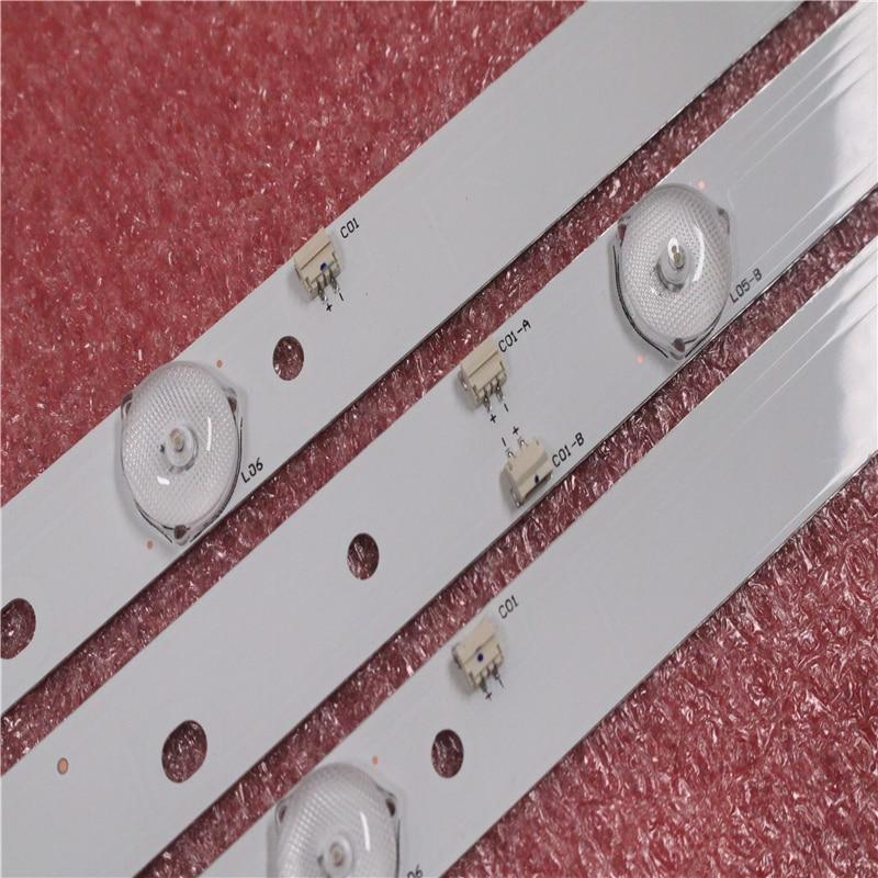 LED Backlight Strip Lamp For AKAI AKTV432 JS-D-JP4320-091EC JS-D-JP4320-081EC E43F2000 D43-F2000