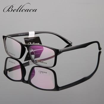 Bellcaca Spectacle Frame Eyeglasses Men Women Nerd Computer Optical Glasses Myopia Prescription Frame For Male Clear Lens BC035