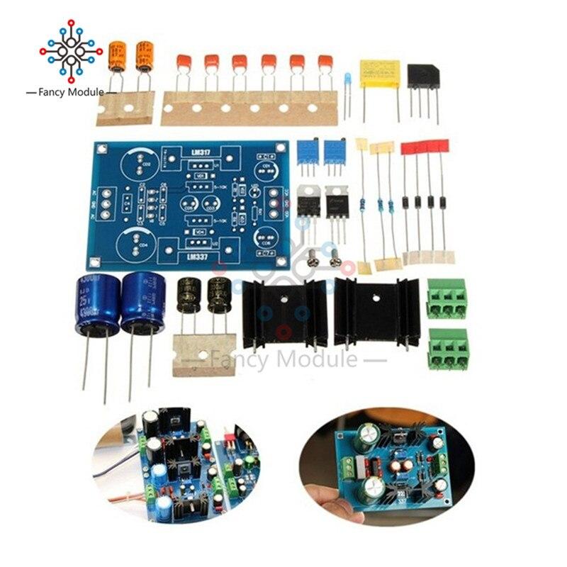 LM317 LM337 Регулируемый фильтрации Питание модуль AC DC Напряжение регулятор 1,25-37 В Регулируемый Модуль DIY Kit