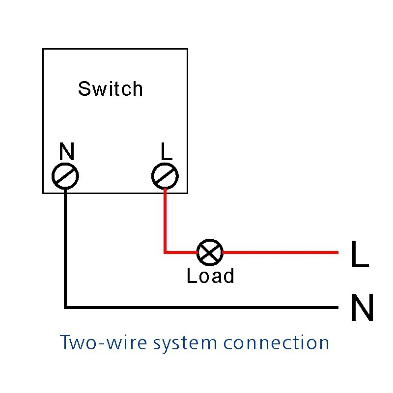 Two-wire system connection