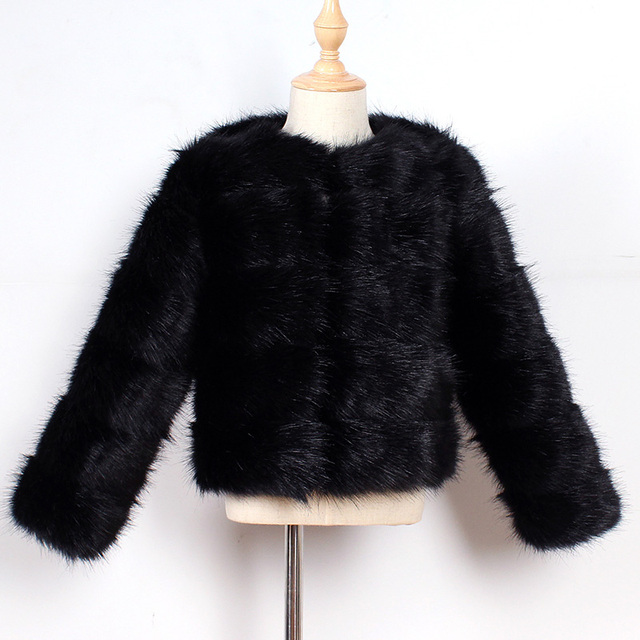 Black Kids fur coat rex rabbit 5c64fecb8a047