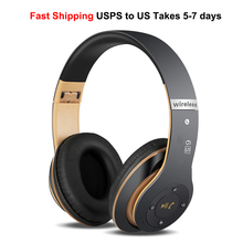 Folding Wireless Headphones Stereo Bass Subwoofer Casque Audio Bluetooth 4.2 Headset Over Ear Headphone with MIC Support TF Card стоимость