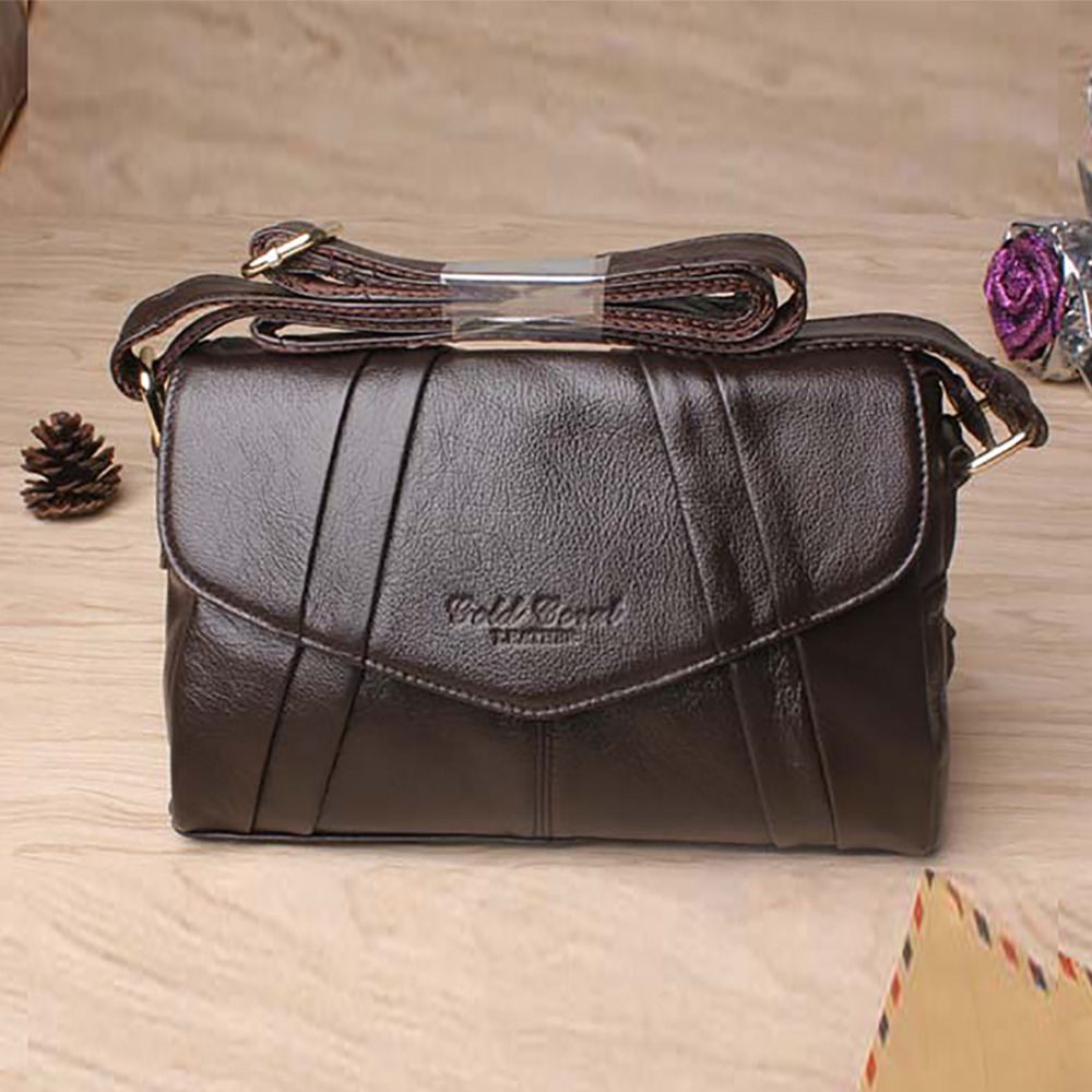 Fashion Popular Women Genuine Cowhide Leather Messenger Bags Travel Casual Hobo Cross Body Sling Shoulder Bag Purse For Ladies