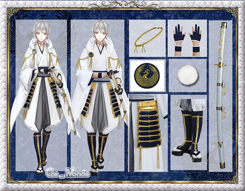 Tsurumaru Kuninaga Cosplay Hot Anime Touken Ranbu Online Cosplay Tsurumaru Kuninaga Warrior Cosplay Costume White Uniform