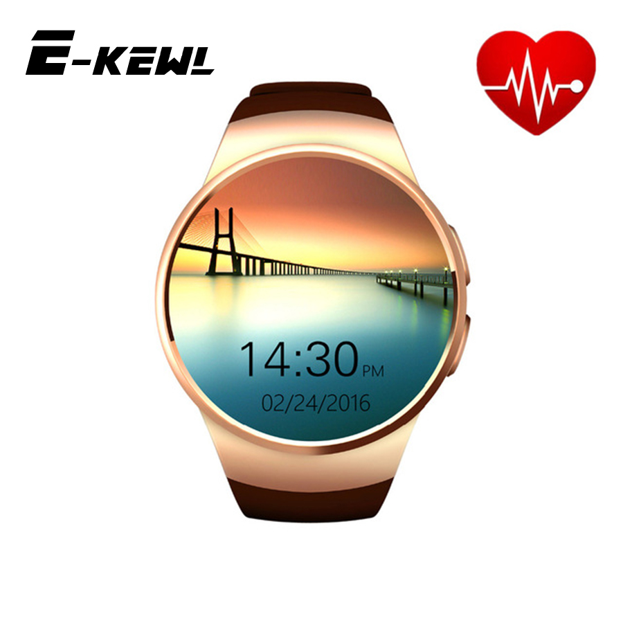 imágenes para ¡ CALIENTE! Original IPS KW18 Ronda Completa de Ritmo Cardíaco Reloj Inteligente BT4.0 MTK2502 Smartwatch para ios y Android Samsung Reloj Inteligente