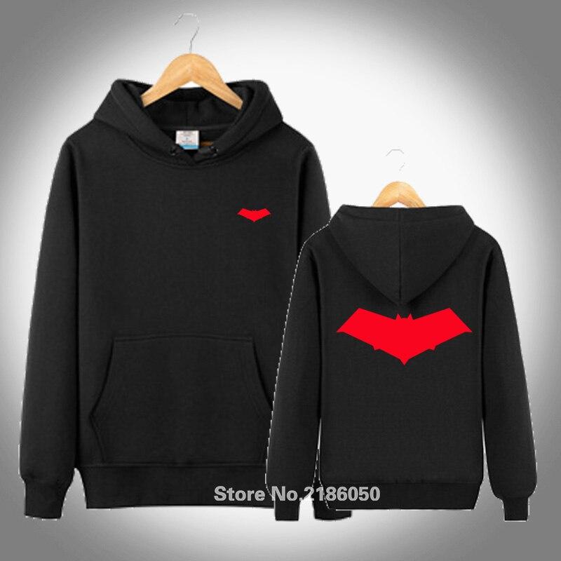 Red Hood Symbol Batman DC Comics men Adult Slim Fit black white S-XXL Sweatshirts Hoodies Coat Hoodied Pullover Hoodie