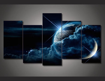 2017 Limited Time-limited Unframed Galaxy Evolution 5 Pieces Group Painting Room Decor Print Picture Canvas Free Shipping