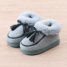 Baby slippers child cotton-padded baby home shoes slippers male child girls shoes baby slippers winter thermal cotton-padded