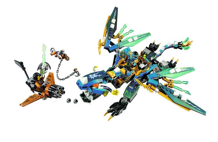 BELA Ninjagoed Jay`s Elemental Dragon Building Blocks Sets Bricks Ninja Movie Classic Model Kids Toys Marvel Compatible Legoings