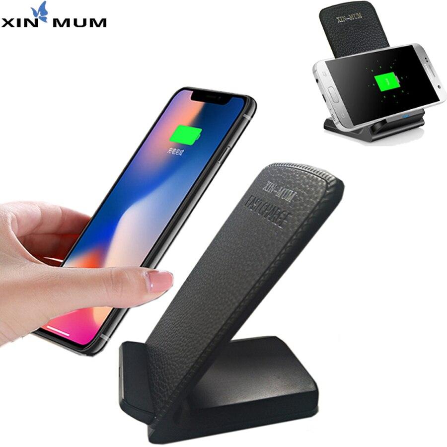 XIN-Maman Qi Sans Fil Chargeur Rapide Chargeur Pad Pour iPhone X 8 Plus Pour Samsung Galaxy S9 S8 Plus s7 A3 A5 A7 2017 Avec Récepteur