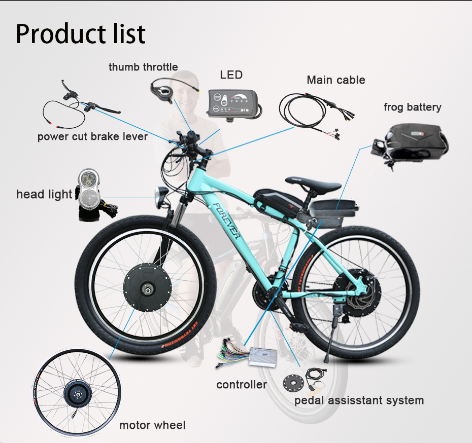 Perfect New DIY Kit 36V10Ah Battery 350W Electric Bicycle Motor Ebike Conversion Kits LED Display Motor Bikes Combination Apart Package 3