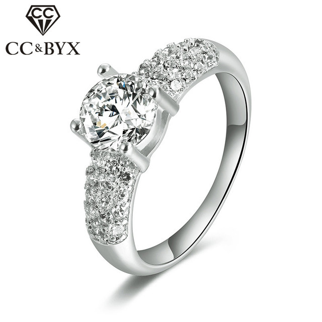 05fbbc29b2a5 Joyería de plata esterlina anillo de compromiso de la vendimia boda Anillos  para las mujeres oro