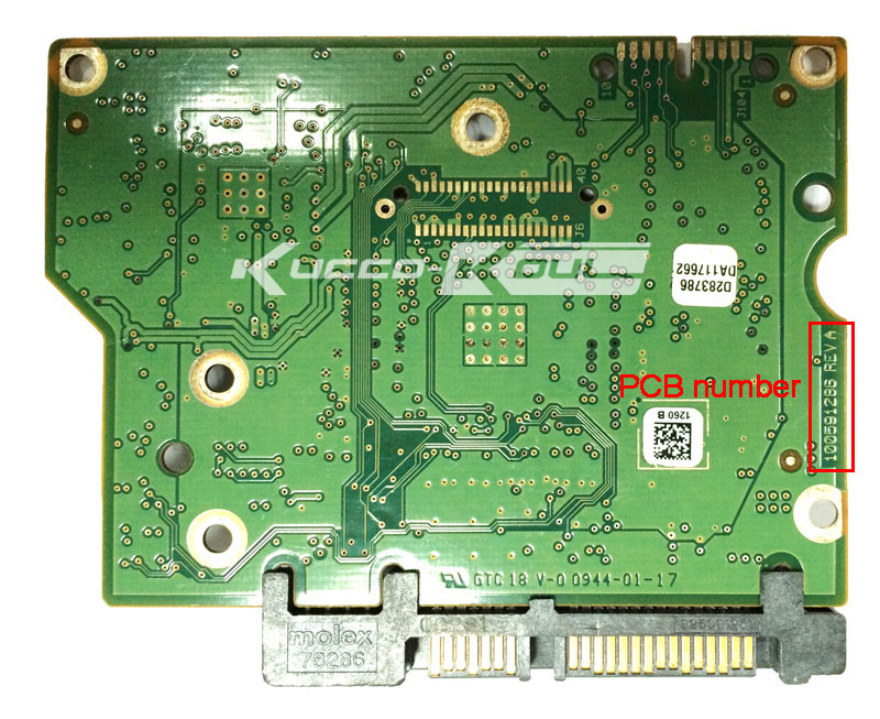 hard drive parts PCB logic board printed circuit board 100591286 for Seagate 3.5 SATA hdd data recovery hard drive repair
