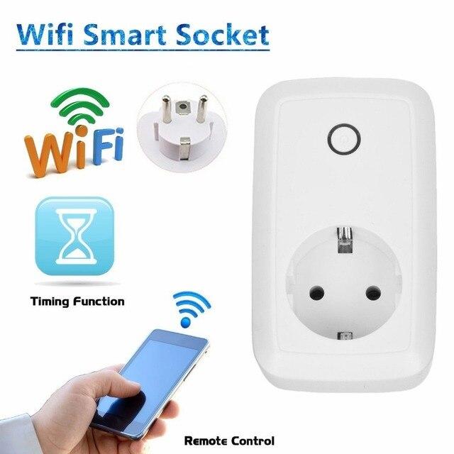 2017 Huiton WIFI smart socket APP remote control socket with timer function US EU UK Plug