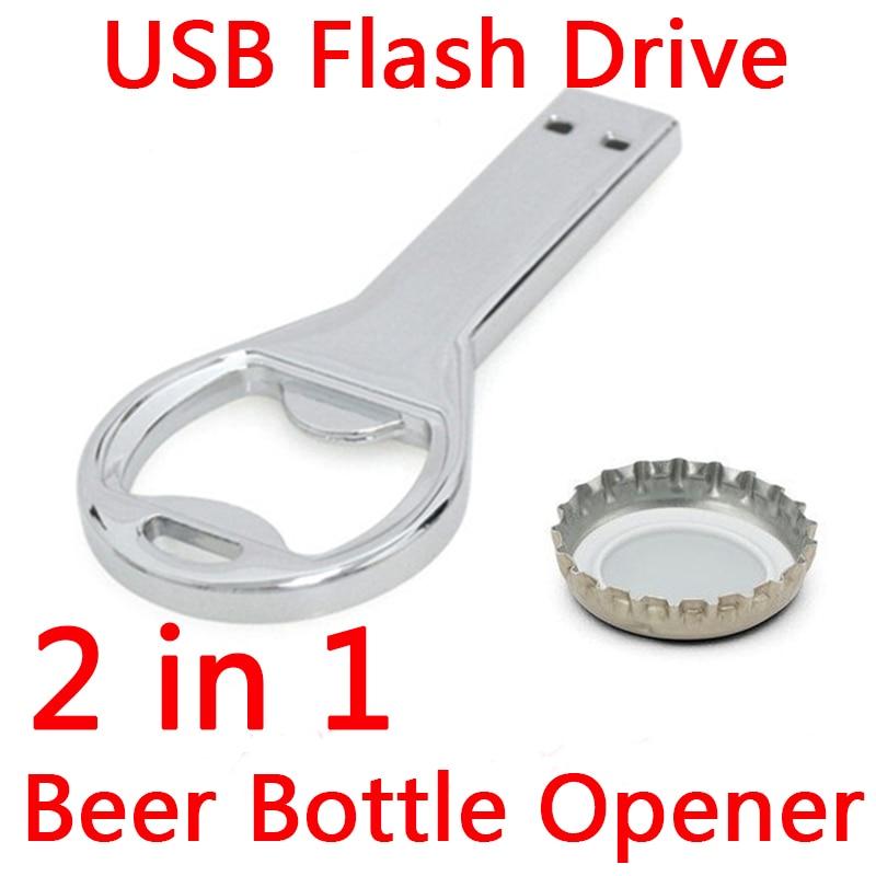 1 Year Warranty Beer Bottle Opener Key Chain Usb Flash Drive 128GB Memory Stick Flash Card 64GB 32GB 16GB Pen Drive 512GB Gift